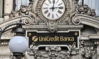 Unicredit debole e in discesa
