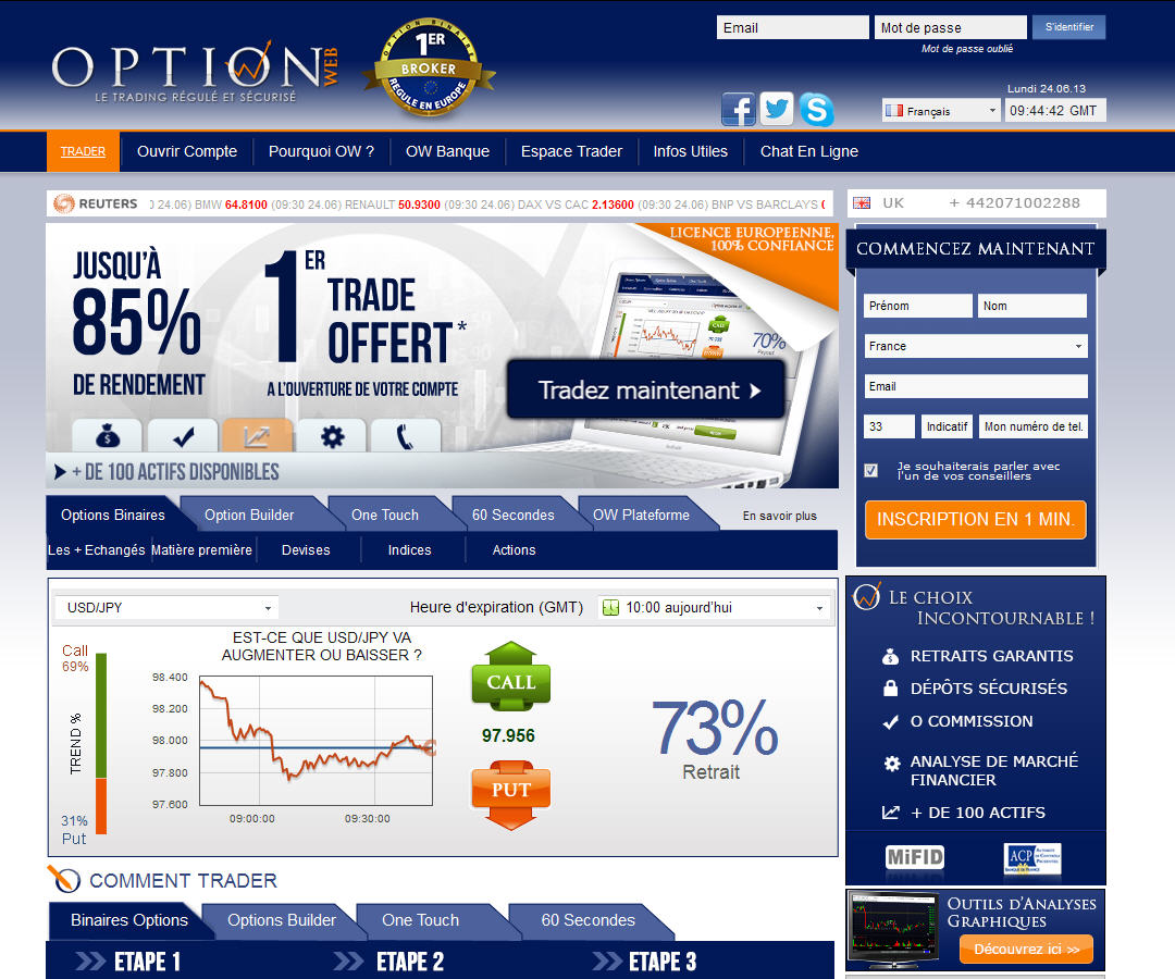 Elenco aggiornato option brokers