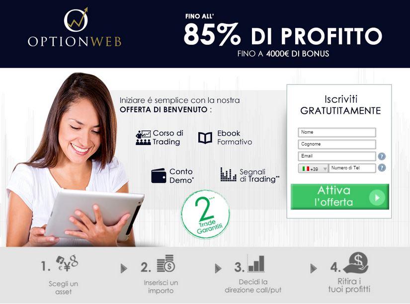 Recensione Optionweb Broker Opzioni Binarie