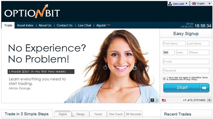 Recensione OptionBit Broker Opzioni Binarie